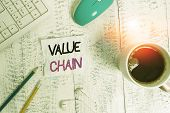 Handwriting Text Writing Value Chain. Concept Meaning Process Or Activities By Which Company Adds Va poster
