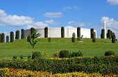 The Armed Forces Memorial, National Memorial Arboretum, Alrewas, Staffordshire, Uk, Europe. poster