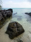pic of promontory  - The beautiful Gelam beach located on the promontory of the island of Java Karimun - JPG