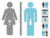 Wc Alcoholic Persons Icon Mosaic Of Inequal Pieces In Variable Sizes And Color Tints, Based On Wc Al poster