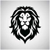 Lion Head Logo Vector Sport Mascot Design Illustration poster