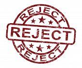 Постер, плакат: Отклонить марка показывает отклонение отказано или отказа