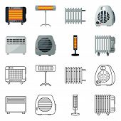 Vector Design Of Household And Appliances Symbol. Collection Of Household And Appliance Stock Symbol poster
