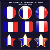 Bright Set Of Banners With Flag Of France. Happy France Day Illustration. Colorful Illustration With poster