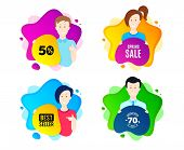 Spring Sale. People Shape Offer Badge. Special Offer Price Sign. Advertising Discounts Symbol. Dynam poster