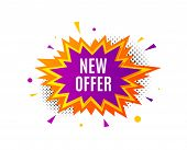 New Offer. Banner Badge, Offer Sticker. Special Price Sign. Advertising Discounts Symbol. New Offer  poster