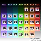 Colorful Calendar For November 2019 In Russian. Set Of Buttons With Calendar Dates For The Month Of  poster