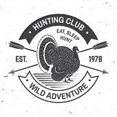 Hunting Club Badge. Eat, Sleep, Hunt. Vector Illustration. Concept For Shirt Or Label, Print, Stamp, poster