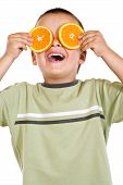 Boy With Orange Slices