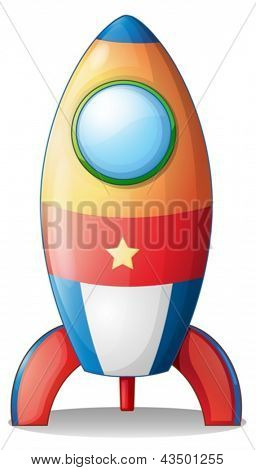 Illustration of an airship toy on a white background