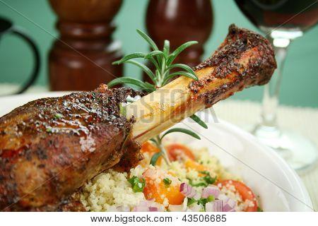 Lamb Shank With Rosemary