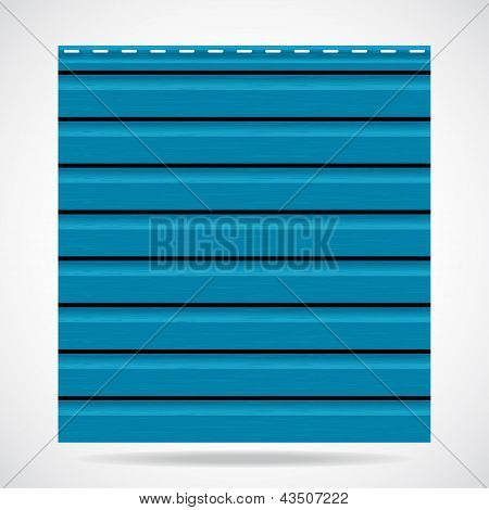 Siding Texture Panel Cyan Color