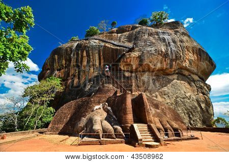 Sigiriya Lion Rock fortaleza no Sri Lanka
