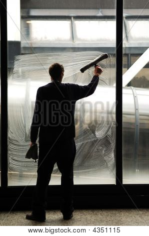 Cleaning The Windows At  Airport