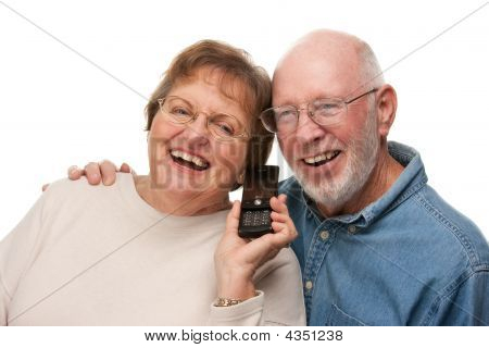 Happy senior Couple mit Handy