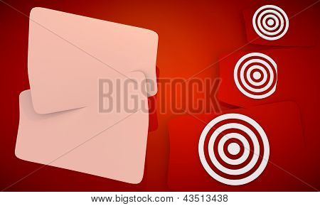 Sight Disk icon in red background with three nice icons