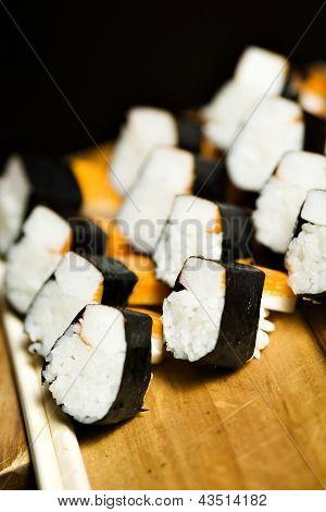 Surimi And Rice In A Sushi Type Roll
