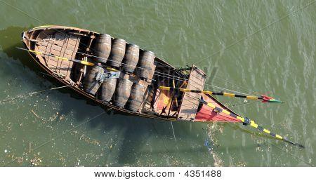Portugal, Porto;  Porto Wine Boat
