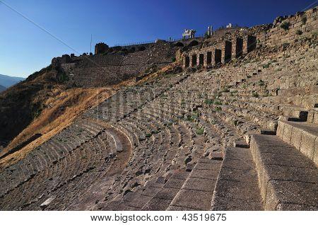 Ancient Greek City Of Pergamon In Bergama, Turkey