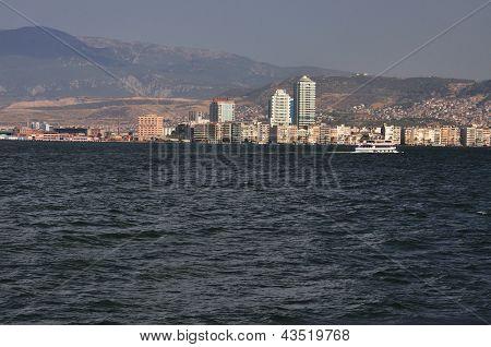 General View On Izmir From Sea, Turkey