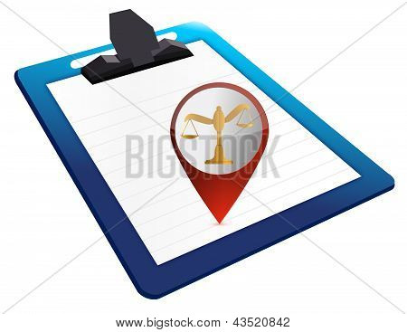 Clipboard With Legal Balance Note