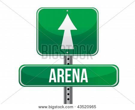 Arena Road Sign