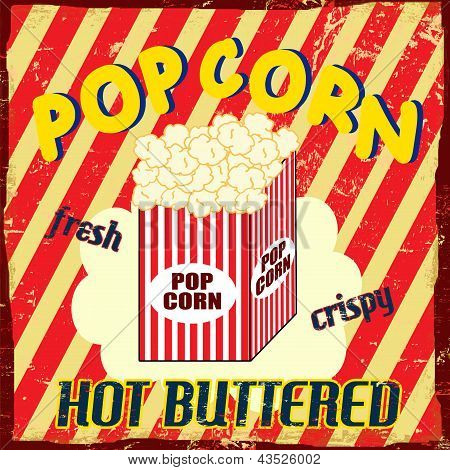 Poster Vintage Pop Corn