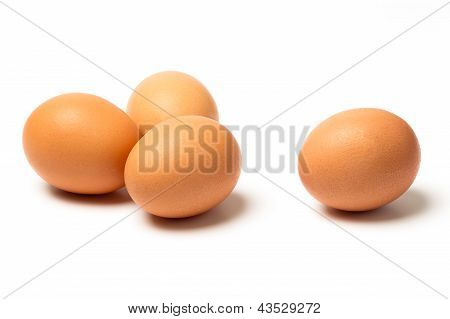Four Eggs Isolated