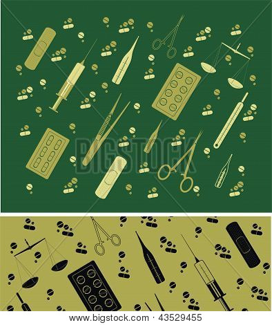 vector background  with medicine tools