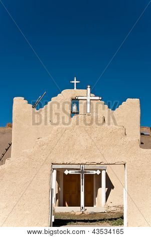 Mission With Three Crosses And A Bell