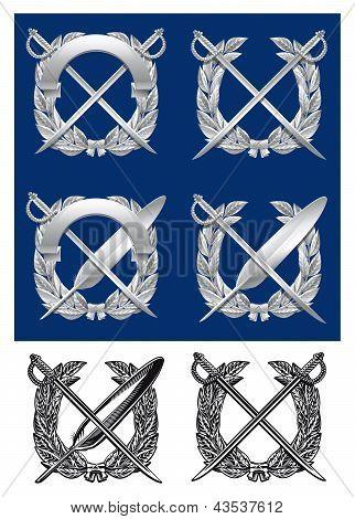 Silver or metal emblem