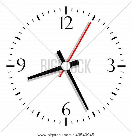 Numbered clock vector illustration