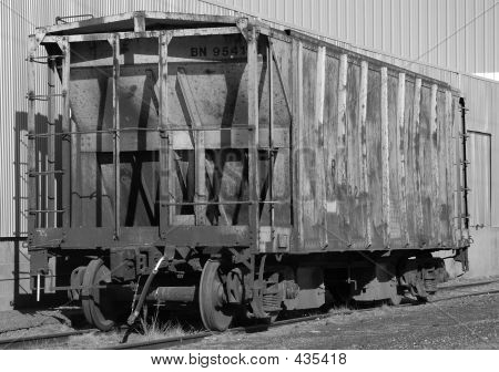 Abandoned Hopper Rail Car