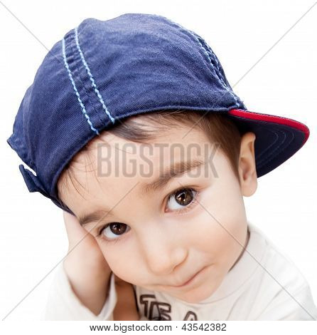 Portrait Of A Boy Wearing A Cap