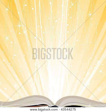 Shining Open  Book