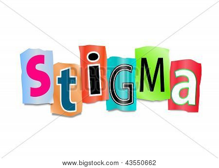 Conceito de estigma.