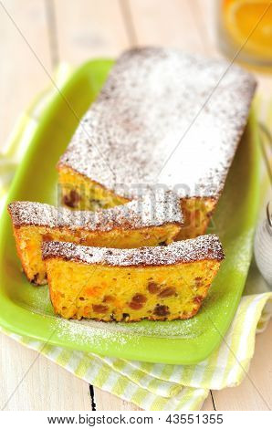 Orange Loaf Cake with Sultanas