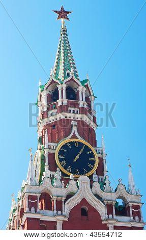 Relógio carrilhão da Torre de Spassky do Kremlin de Moscovo