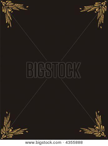 Golden Butterfly Frame