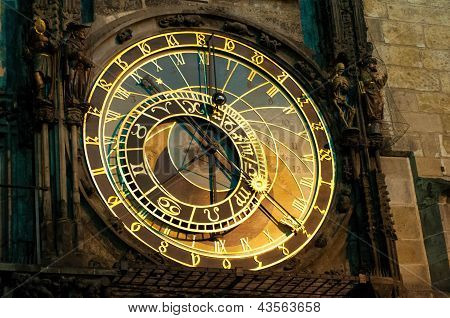 Prague Astronomical Clock, Orloj,  In The Old Town Of Prague