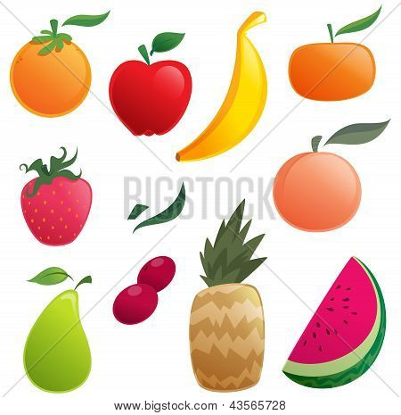 Shinny Cartoon Fruits