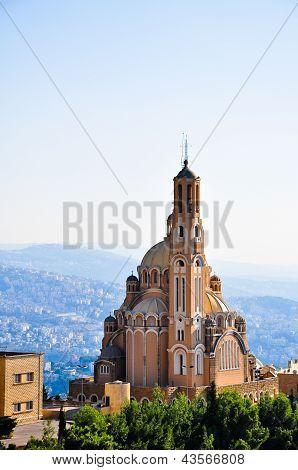 St Paul Basilica At Harissa Near Beirut In Lebanon