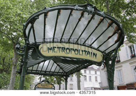 Abbesses Metro Station, Paris, France