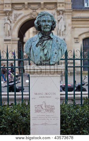 Bust Of Marc Seguin, Famous Engineer. Paris, France