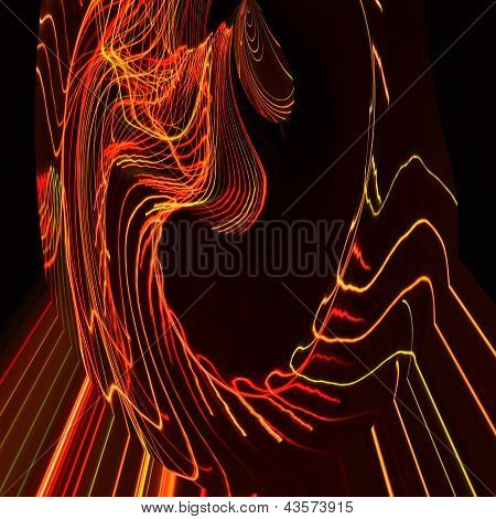 Scrapbook Abstract Light Painting