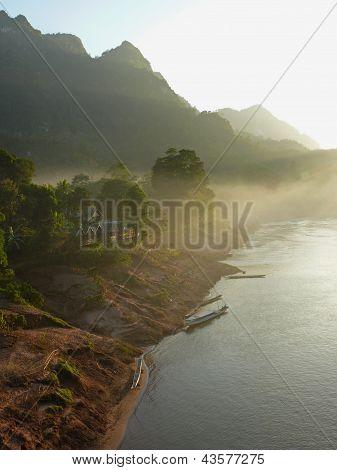 Sunset at Nong Khiaw, Laos