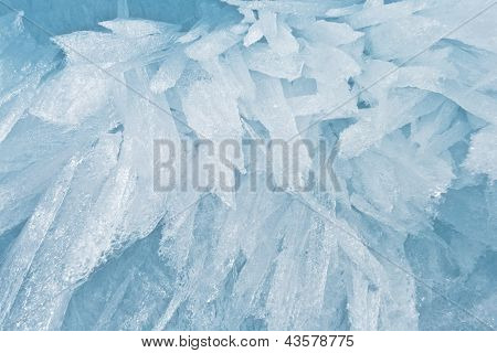 Fine Background From An Ice Structure In Baikal