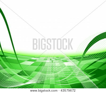 Green Abstract Advertisement Background.eps
