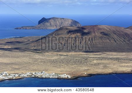 View Of Graciosa Island (mount Mojon) From Mirador Del Rio, Lanzarote Island