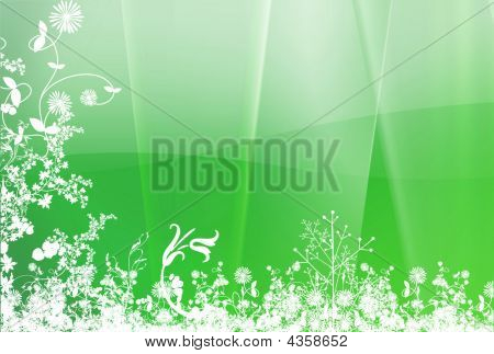 Green White Spring Background